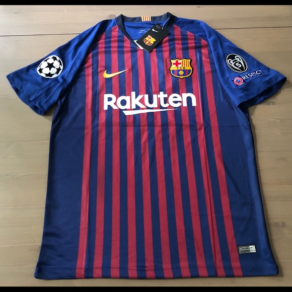 outlet store f99c7 fd218 Barcelona Messi #10 Soccer Jersey Champions league NWT